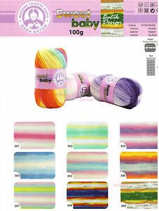 Ören Bayan Madame Tricote Paris SWEET BABY Batik 100g 360m Wolle Angebot