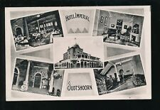Netherlands Holland OUDTSHOORN Hotel Imperial M/view advert c1930/50s? RP PPC