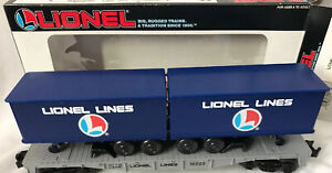 Lionel Trains 6-16323 ~ Lionel Lines Flatcar with Trailers ~ NEW IN BOX