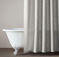 Restoration Hardware Vintage Washed Belgian Linen Shower Curtain, Mist
