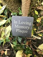 SLATE GRAVE MEMORIAL SIGN, RUSTIC ENGRAVED NATURAL SLATE PERSONALISED PLAQUE