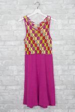 Nougat London Crochet Dress Size 2 Sleeveless Pink Cotton Floral Spring Empire
