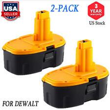 2 Pack New for Dewalt 18 Volt DC9096 XRP Battery 18V Ni-Cd DW9096 Power Tools US