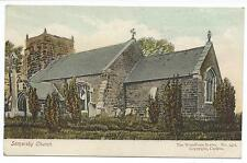 LINCOLNSHIRE - SOMERSBY CHURCH  Woodbury Series Postcard