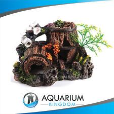 #18860 Kazoo Barrel With Plants Small Aquarium Fish Tank Ornament Decoration