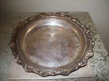 Antique Sculpted Silver Plated Serving Tray