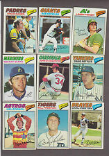 1977, 1978 & 1979 TOPPS BASEBALL  - -  COMPLETE YOUR SET   PICK ANY 30 CARDS
