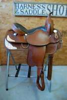 """16"""" G.W. CRATE PLEASURE SADDLE NEW FREE SHIP TRAIL 15 Y MADE IN ALABAMA USA"""