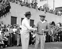 1950 Golf Legends BEN HOGAN & SAM SNEAD Glossy 8x10 Photo 'Shaking Hands' Print