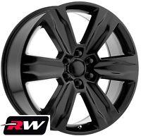 "22"" RW Wheels for Ford F150 2015 2019 Platinum Style Gloss Black Rims 6x135 +44"