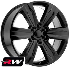 "22"" RW Wheels for Ford F150 2015 2018 Platinum Style Gloss Black Rims 6x135 +44"