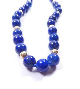 "Lapis Lazuli necklace 22"" 7.5mm balls"