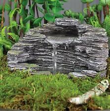"Fiddlehead Fairy Garden ""Granite Grotto"" Fountain With Pump"