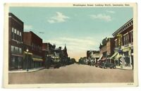 Washington Street View Lexington Nebraska NE Cafe Shops Cars Vintage Postcard
