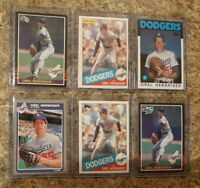(6) Orel Hershiser 1985 Donruss Fleer Topps OPC Leaf Rookie Card lot RC Dodgers