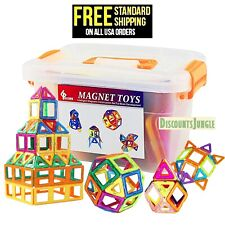 GLOUE Magnetic Blocks Building Blocks,Toy Contain Squa 64 piece for Girls & Boys