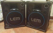 Amplificatori altoparlanti casse acustiche karaoke Lem Lx12 8ohm 10watt 80.554m