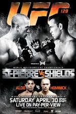UFC 129 Georges St Pierre vs Jake Shields Sports Poster 12x18