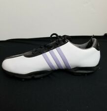 Adidas Women's White Golf with Purple Stripe Oxford Shoes size 9.5 M 10218-1 A4