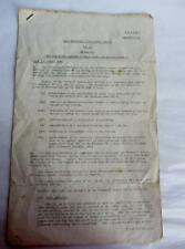 RARE WWII BAOR PANTHER TANK INTELLIGENCE REPORT AUG 1945 NEW TURRET SECRET PAPER
