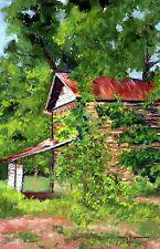 Last Days of the Tobacco Barn, Amos Park (8.3 x 5.4) -- Giclee Print