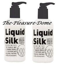 2 x 250ml Liquid Silk Water Based Lubricant Anal Vaginal Lube Sex Aid Cheapest