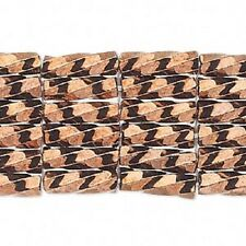 Spiral Bugle Beads 6mm Opaque Iris Bronze 200 Beads