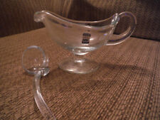KROSNO Poland Crystal Gravy Boat and Serving Spoon Ladle