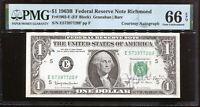 1963-B $1 FRN Richmond Courtesy Autograph Joseph W Barr E57397720F PMG 66EPQ