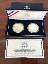 2001 American Buffalo Commemorative Proof and Uncirc Silver Dollars TWO COIN SET