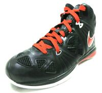 Nike Lebron 8 P.S Little Kids 449202 001 Basketball Black Red Leather Sneakers