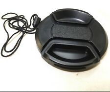 58mm Lens Front Cap Black Plastic w/ keeper String (NEW)
