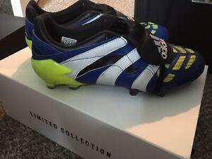 Adidas Predator Accelerator FG FZ5429 Blue Volt Soccer Cleat Beckham Men's 10