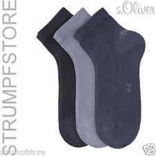 6 Paar s.Oliver Sneaker Quarter Socken UNISEX Gr. 35-46 blau navy 75 Art. S21001