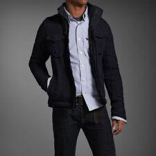 Abercrombie Jackrabbit Trail Navy Blue Boys Wool Jacket Size Medium Brand New