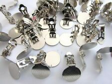 20 (10 Pair)Plated Clip On Earring Making Findings/Backing/Craft/Ba ck K39-Silver