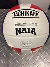 Tachikara SV5 NAIA Leather Volleyball Red White Blue