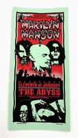 MARILYN MANSON THE ABYSS ROCK CONCERT SILKSCREEN HANDBILL POSTER MARK ARMINSKI