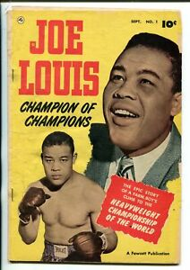 JOE LOUIS #1- 1950-FAWCETT-PHOTO COVER-BIOGRAPHICAL-HEAVYWEIGHT CHAMPION-fr