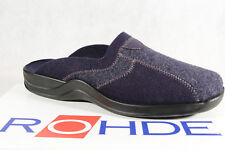 Rohde Men's Slippers House Shoes With Soft Felt, Blue 2743 New