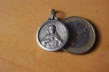 Vintage Catholic Médaille Pendantif Regina Decor Carmeli O.P.N. Sacred Heart
