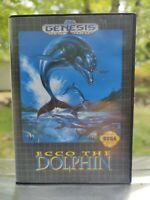 Ecco the Dolphin (Sega Genesis, 1992) - TESTED - cib COMPLETE game