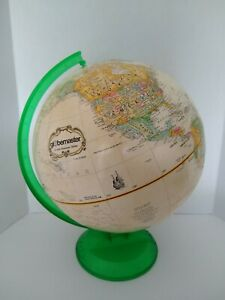 "Replogle 12"" Globemaster Rotating World Globe on Green Plastic Stand"