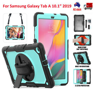 """Heavy Duty Shockproof Hand Strap Stand Case for Samsung Galaxy Tab A 10.1"""" 2019"""
