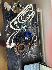 Mixed Bundle Costume Jewelley Black Gold Silver Pearl Wood