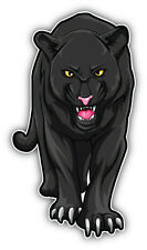 Angry Black Panther Car Bumper Sticker Decal 3'' x 6''