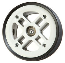 120mm x 50mm rubber on nylon general purpose wheel, set of 2, including bearings