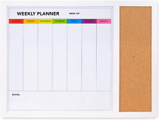 Weekly Dry Erase Board For Wall 24in X 18in Weekly Whiteboard Planner With Cor