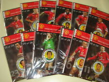 MAN UTD / M.E.N. 2005/06 MEDAL COLLECTION  # 7 - 18  INCL. RONALDO  12 OUT OF 20