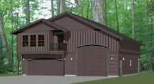 40x42 Apartment with 2-Car 1-RV Garage - PDF FloorPlan - 1,153 sqft - Model 3A